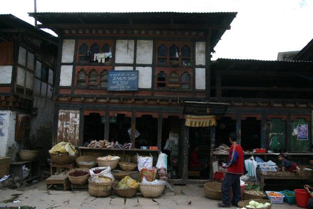 Groenten winkelje in Thimphu
