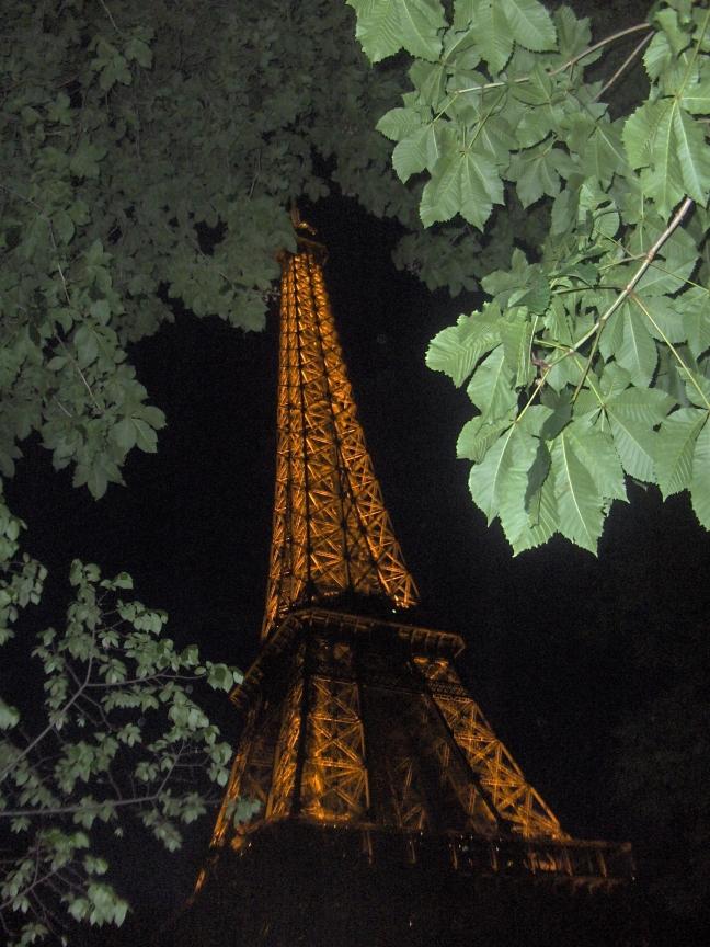 Eiffeltoren, 's avonds laat