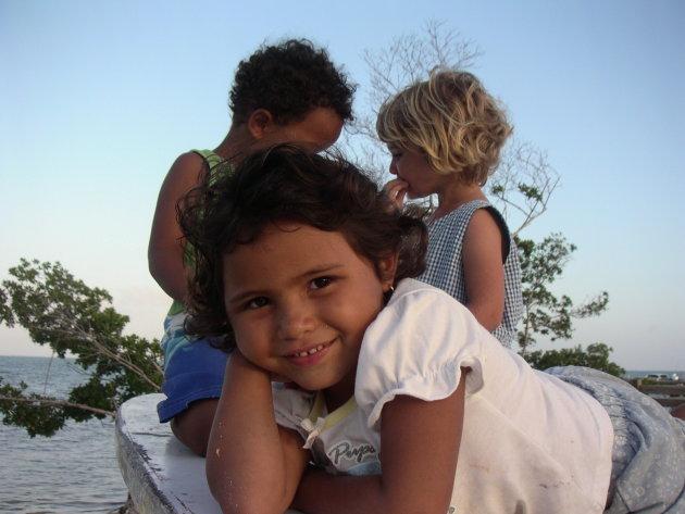 Meisje op boot