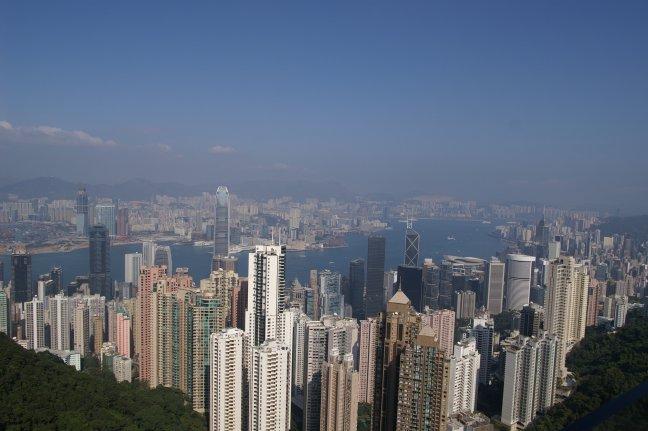 Uitzicht op Hong Kong