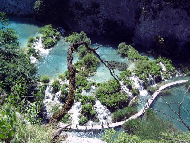 Het Nationaal Park Plitvicemeren