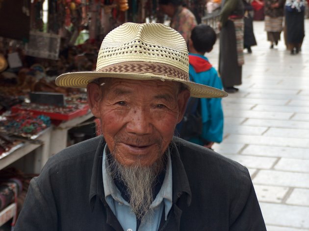 Straatbeeld in Lhasa