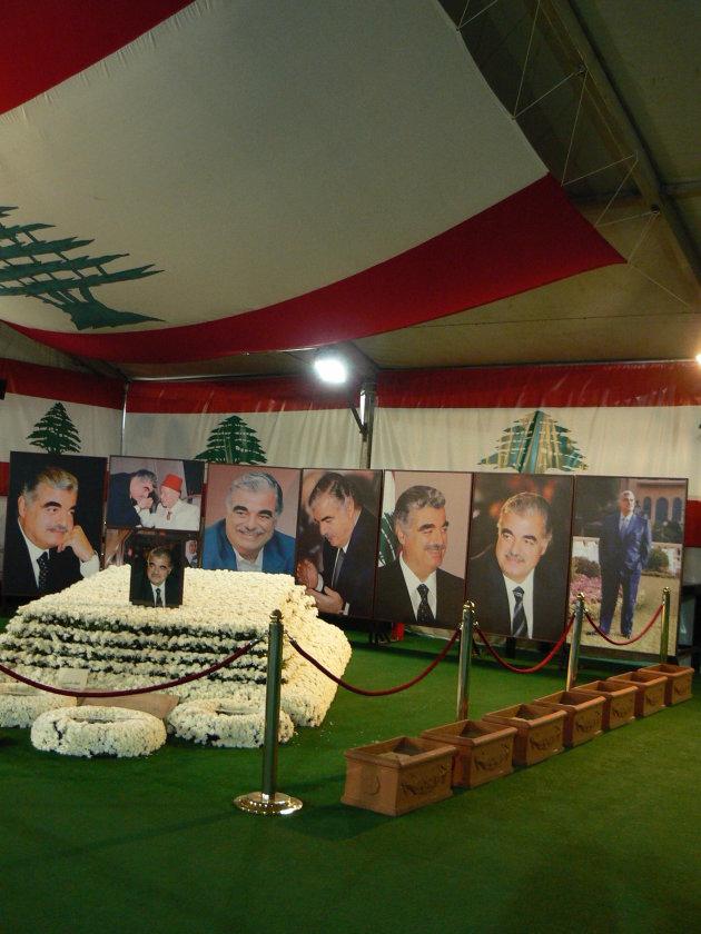 graf van Hariri, zijn dood was aanleiding voor het vertrek van Syrische troepen uit Libanon