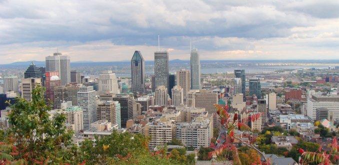 Uitzicht op de Mont Royal