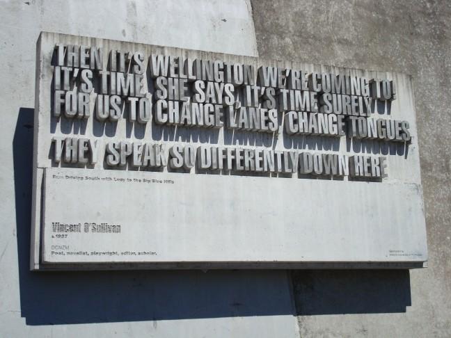 gedichten door de stad Wellington
