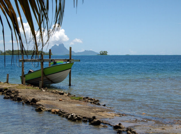 Bora Bora gezien vanaf Raiatea