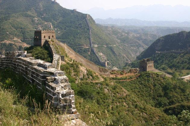 Chinese muur tussen Simatai en Badaling