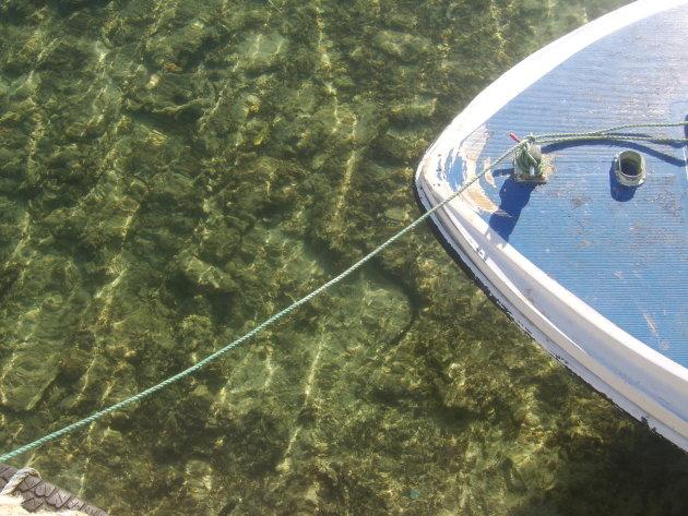 Boot in helder water