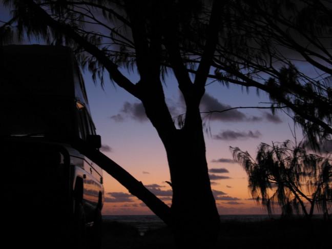 Zonsopgang Fraser Island