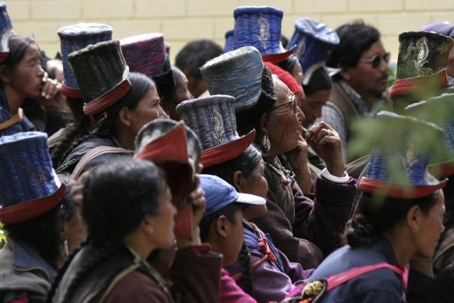 hoedjes vergadering Ladakh