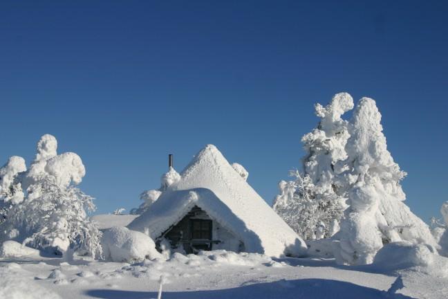 Lapse hut bewoond