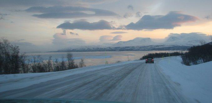Zonsondergang in Noord-Zweden