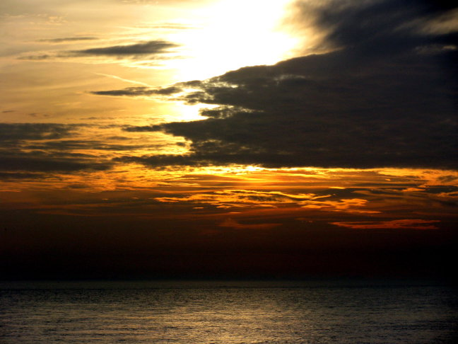 'n wolkje voor de zon