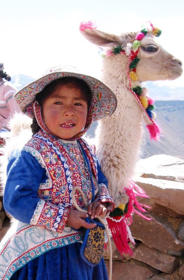 Meisje met Lama