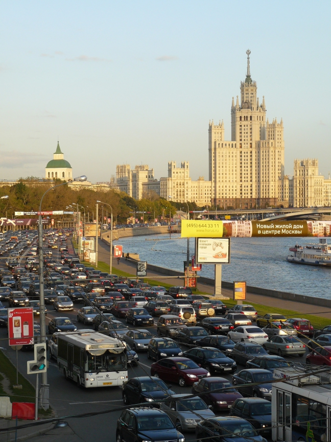 Avondspits in Moskou