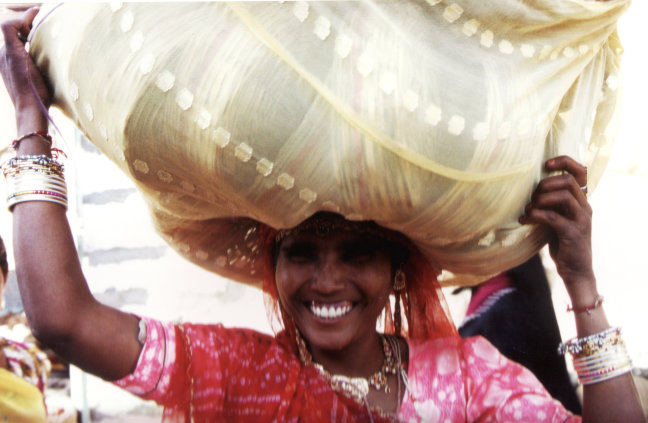 Vrouw in Rajasthan