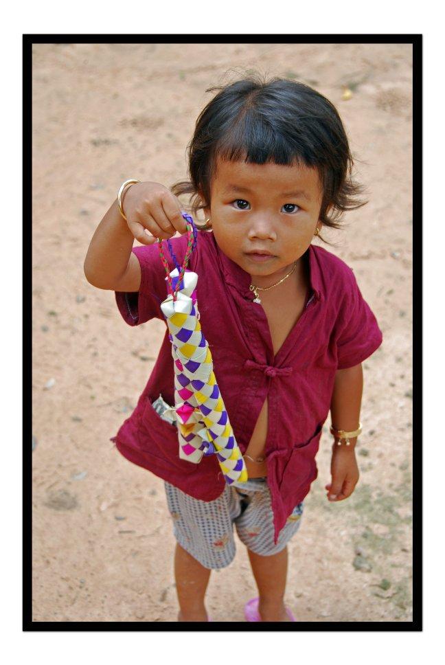 Verkoopstertje in Ankor Wat