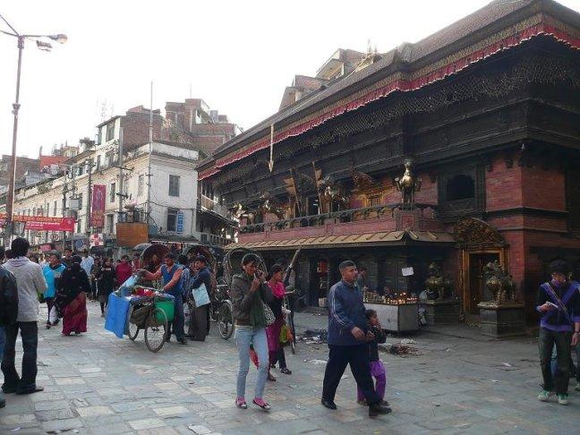 Het oude centrum in Kathmandu
