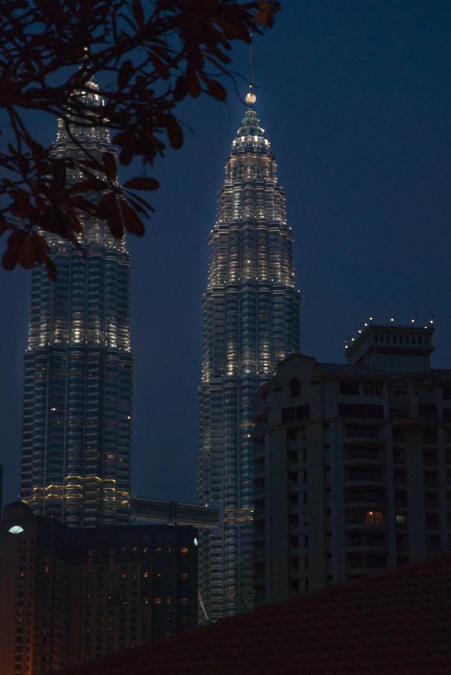 's nachts Petronas towers