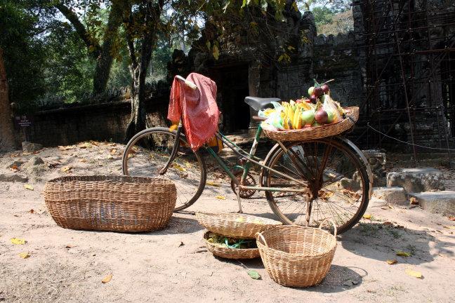Fiets Cambodja stijl