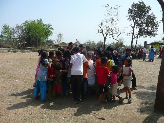 Kindjes bij het Dental Camp