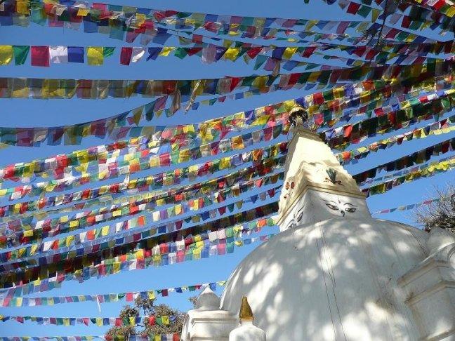 Gebedsvlaggetjes bij nMonkey Temple