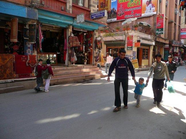 Op straat in Thamel