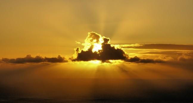 Schitterende zonsondergang