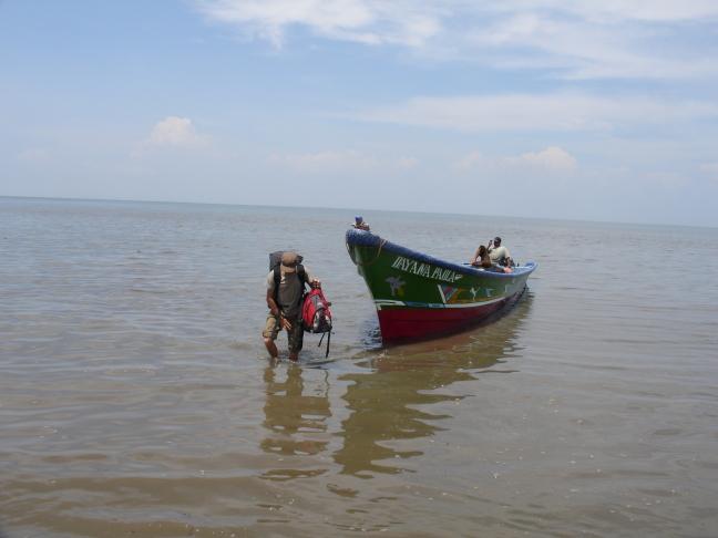 Per vissersboot van La Union naar Nicaragua