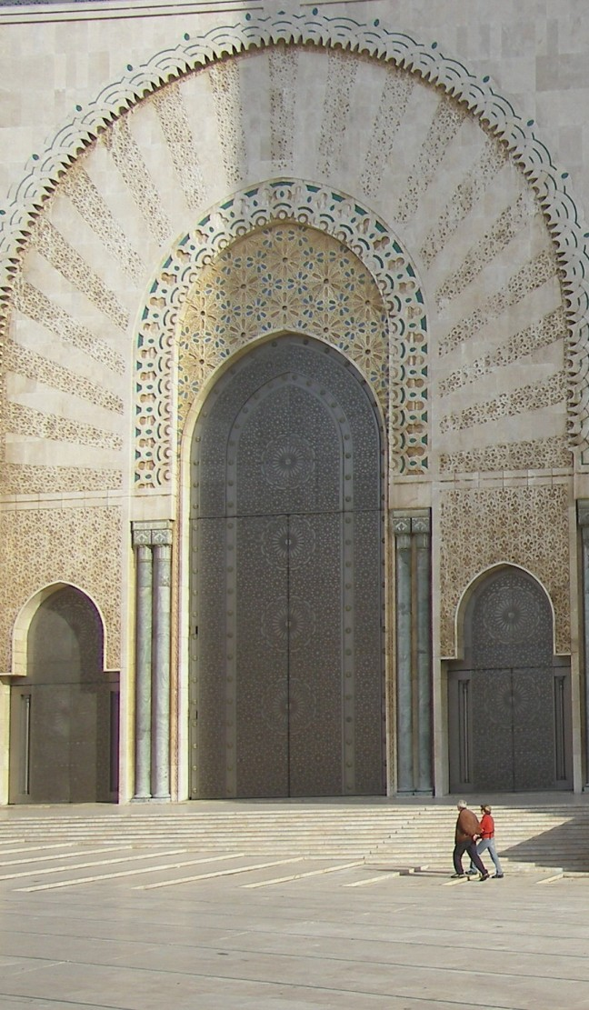 Deur Hassan II moskee