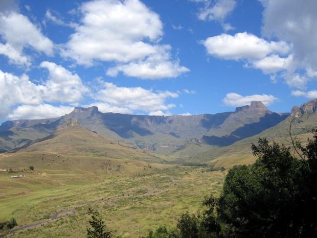 Amphitheater in de Drakensbergen