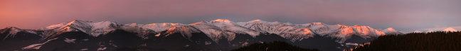 Chornogora range at morning