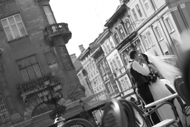 wedding at a old town