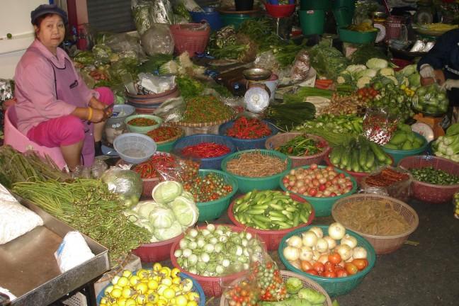 De Foodmarkt in Kanchanaburi