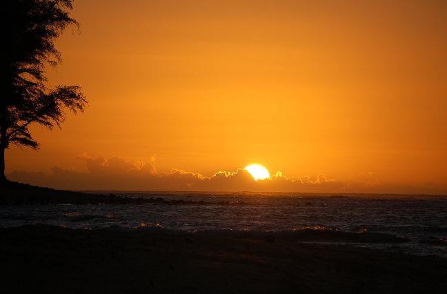 Sunset in Hawai