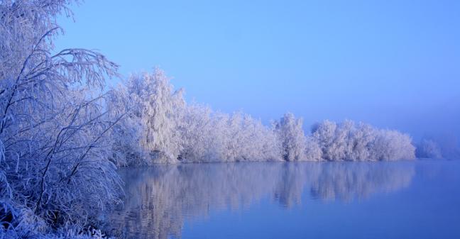 ijskoud bij het meer