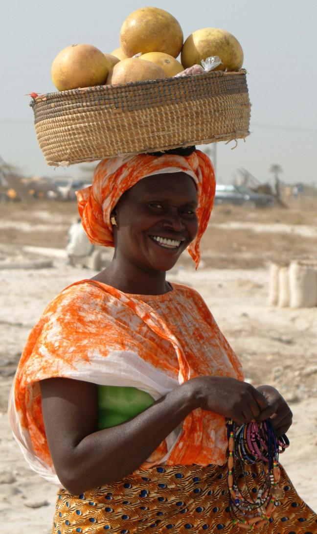 Woman at Paris Dakar