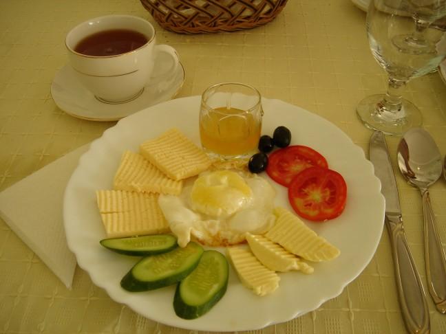 Ons ontbijt in Turkestan