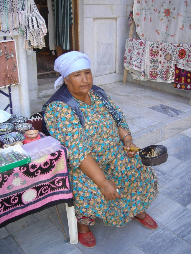 Kruidenvrouwtje in Samarkand