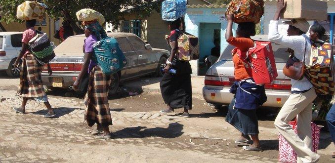 Bij de grens van Zambia