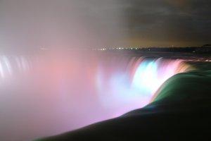 Niagara Falls - Canadian Horshoe Fall by night