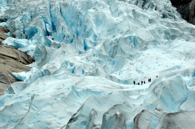 Gletsjerwandelaars op de Briksdal