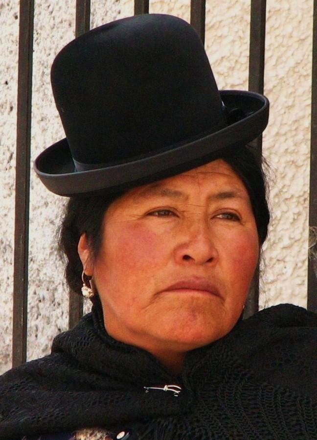 Typische Boliviaanse vrouw