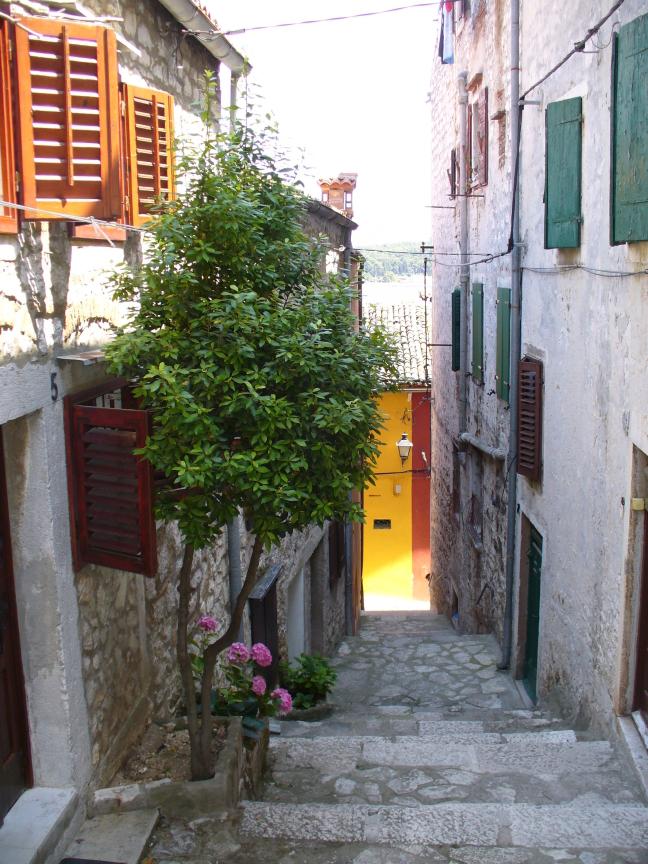 trappen in het centrum van Rovinj