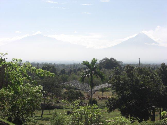 Uitzicht vanaf Borobodur
