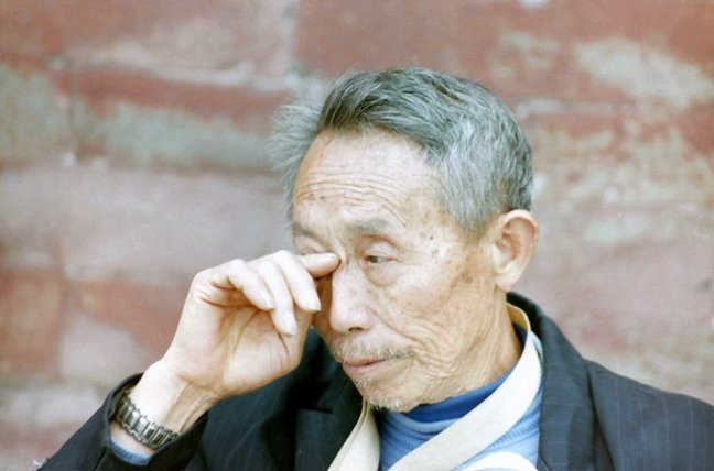 Chinese man in verboden stad