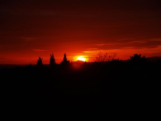 sunset in de provence
