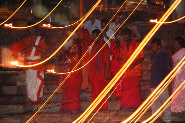Rituelen in Varanasi
