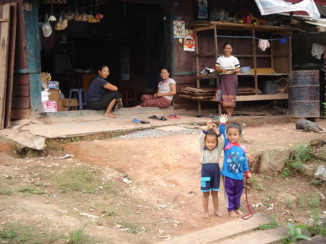 Zwaaiende Laotiaantjes