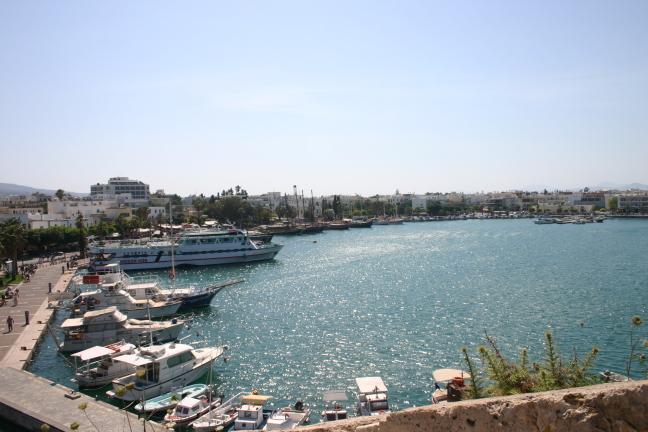 De haven van Kos Stad
